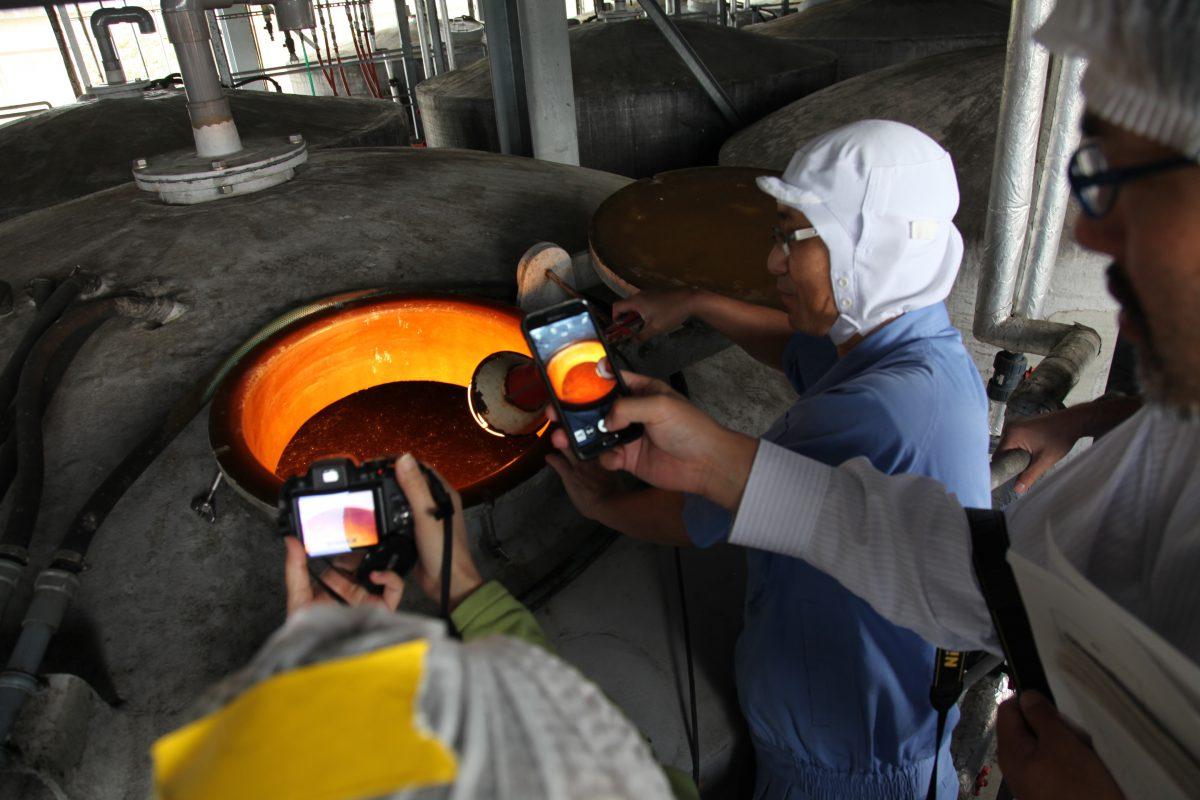 発酵タンク 撮影