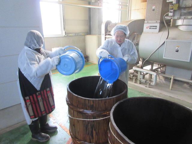 バケツリレー塩水投入